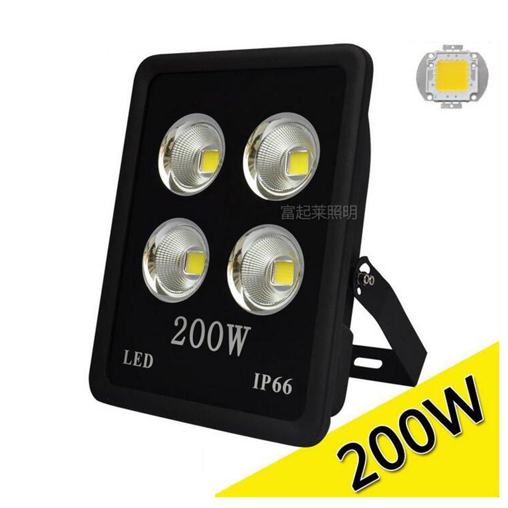 HE-Light Luci di inondazione, luci del Prato del proiettore del proiettore di 1pc 400W LED impermeabilizzano l'illuminazione Esterna Decorativa, Bianco Caldo, proiettore, Luce del Tunnel