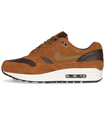 579ff36585 Nike Mens Air Max 1 Premium LTR Ale Brown Trainers Size 10.5 UK: Amazon.co. uk: Shoes & Bags