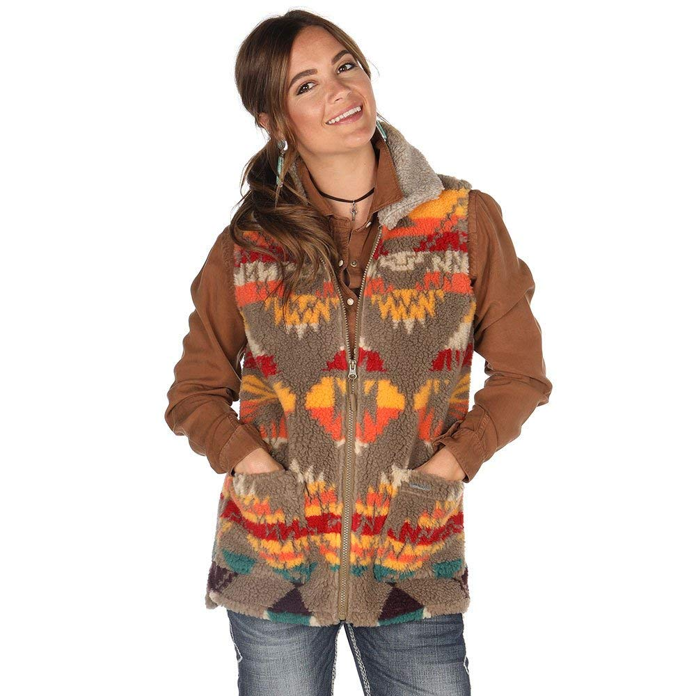 Panhandle Womens Ladies Aztec Berber Vest