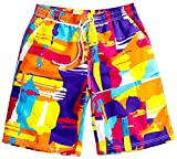Tailor Pal Love Young Male Quick Dry Boardshorts Bathing Suits Swimming Trunks Cotton Swim Water Beach Shorts with 2 Pockets, Size XL