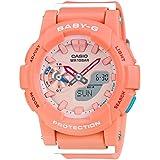 Casio Baby-G CC Series Coral & Orange Dial Resin Quartz Ladies Watch BGA185-4A