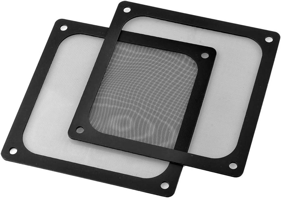 S SIENOC 2 x 120mm Filtro de Polvo Filtro de Ventilador de Ordenador Cubierta Antipolvo Negra de Magnético PVC Malla de Ordenador (2 x 120mm, Negro)