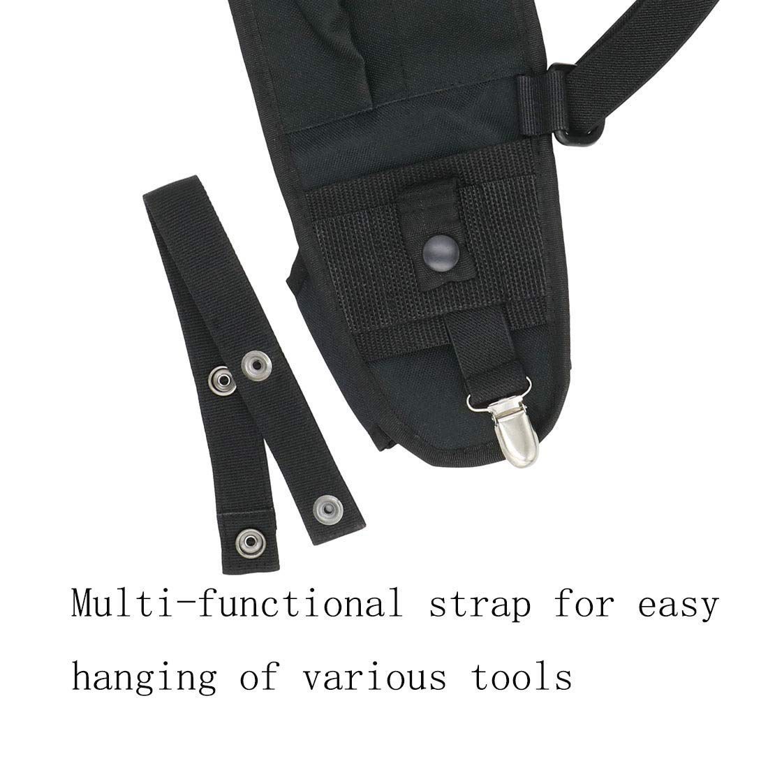 GoodQbuy Universal Double Radio Shoulder Harness Chest Rig Bag Pocket Pack Holster Vest for Two Way Radio Rescue Essentials Vest Harness