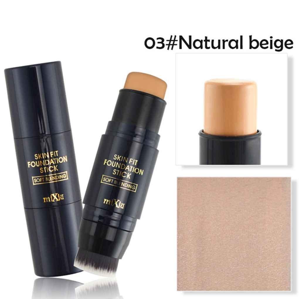 Mengonee Double-tête Concealer avec Brosse Visage Éclaircissant Haute Lumière Stick Maquillage Primer pour Maquillage Visage Concealer