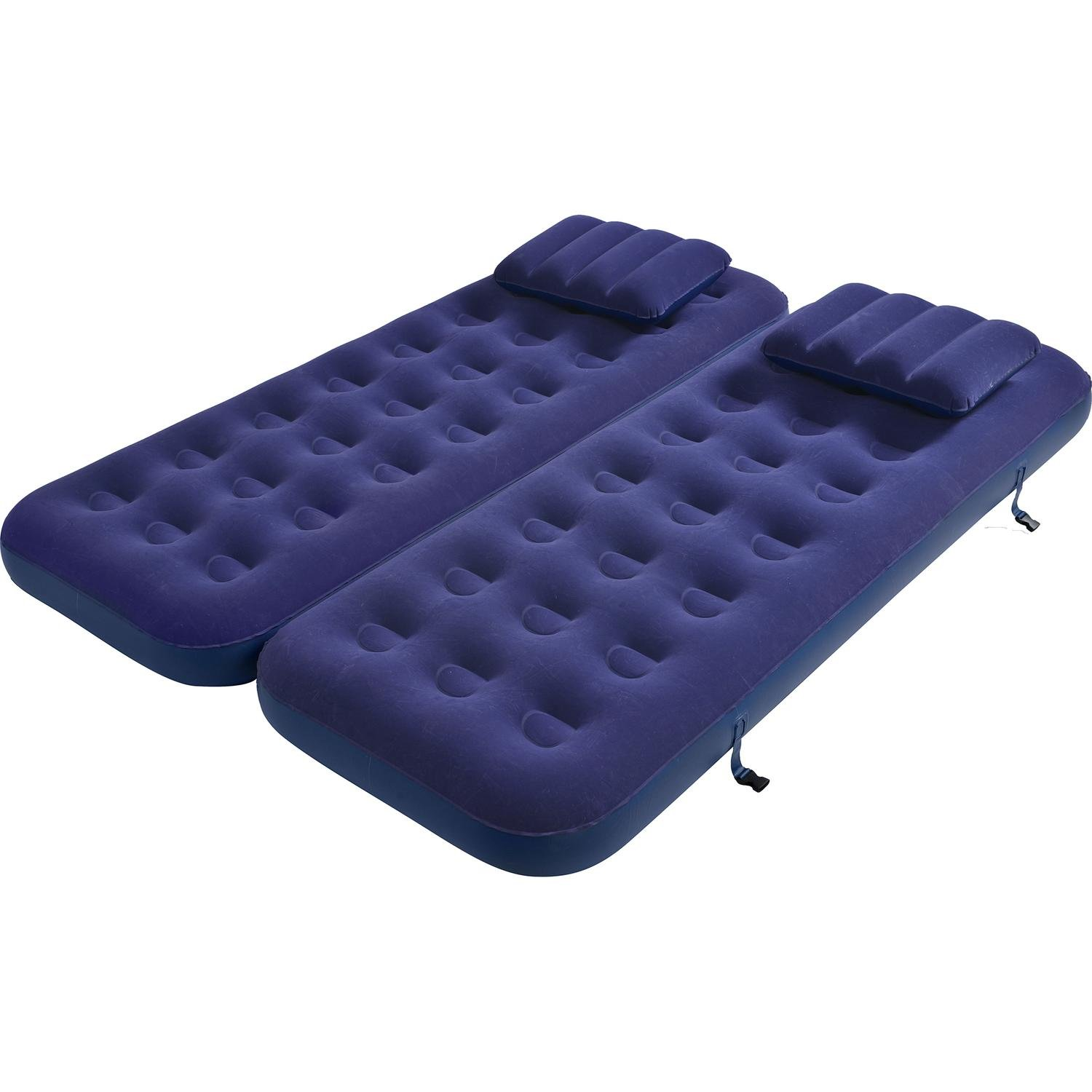 By PoolCentral 75'' Navy Blue 3 in 1 Inflatable Flocked Air Mattress with Pillows