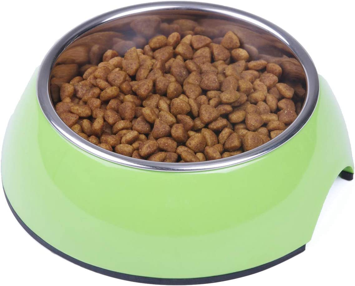 Super Design Dog Cat Bowls Melamine Stand Stainless Steel Bowls for Small Medium Large Dogs and Cats