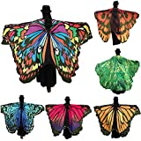 Soft Fabric Butterfly Wings Adult Shawl Fairy Ladies Nymph Pixie Costume For Women Fairy Accessory ICODOD