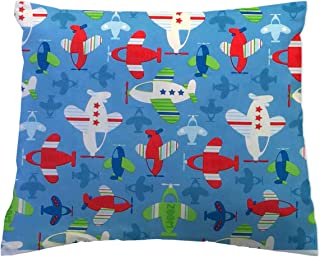 product image for SheetWorld Crib Toddler Pillow Case, 100% Cotton Woven, Baby Airplanes, 13 x 17, Made in USA