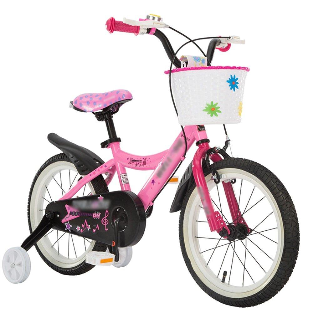 Bicicletas para niños Feifei Carrito de bebé 12/14/16 Pulgadas de Mountain Bike Pink Materiales de Protección del Medio Ambiente (Tamaño : 12 Pulgadas)