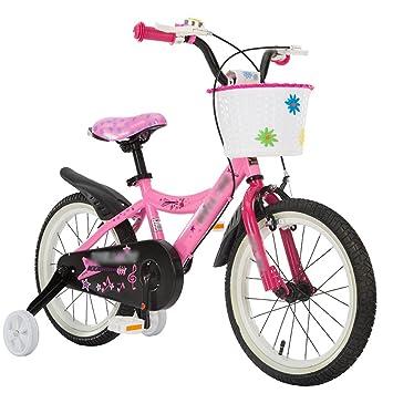 MAZHONG Bicicletas Carrito de bebé para Bicicleta para Niños 12/14/16 Pulgadas de Mountain Bike Pink Materiales de Protección del Medio Ambiente en Muchos ...