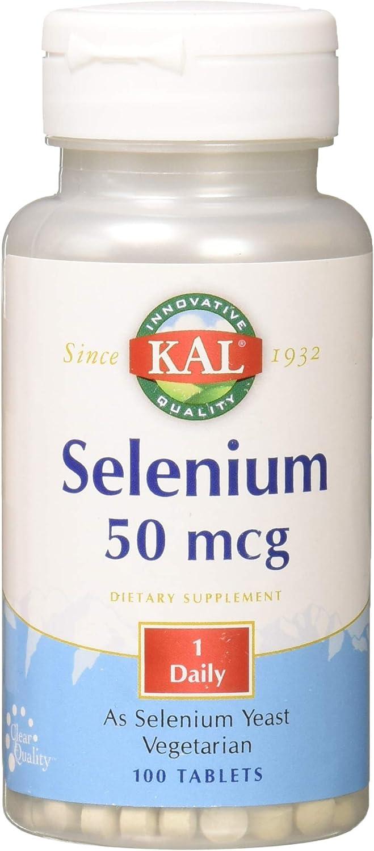 Kal 50 Mcg Selenium Tablets, 100 Count