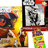 Star Wars Episode 7 The Force Awakens 3 in 1 Set - Including Coloring and Activity Book + Puzzle Game + 24 Crayola Crayons