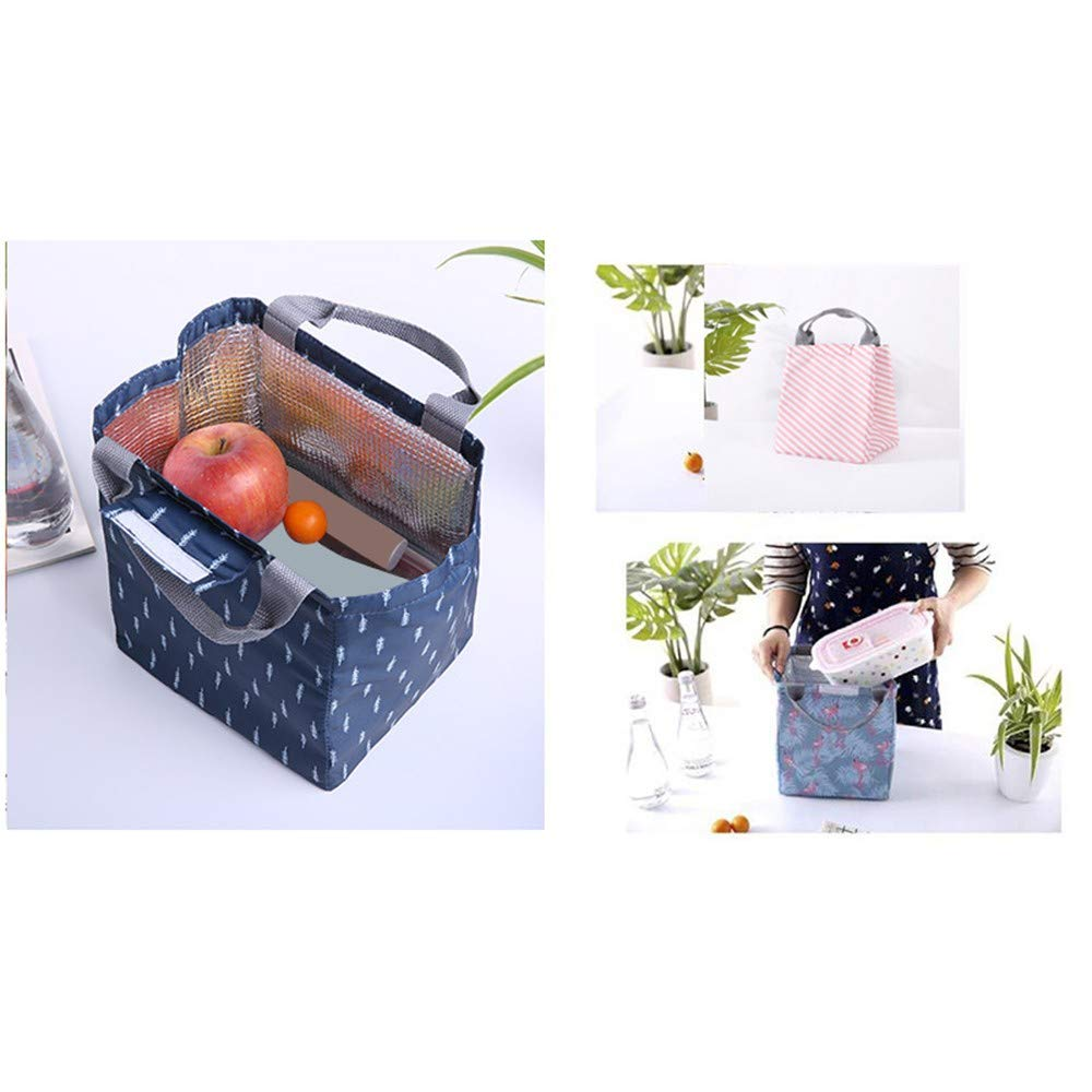 Seamount Trendy Lunch Bag Insulated Pouch Thermal Tote (Navy) by Seamount (Image #3)