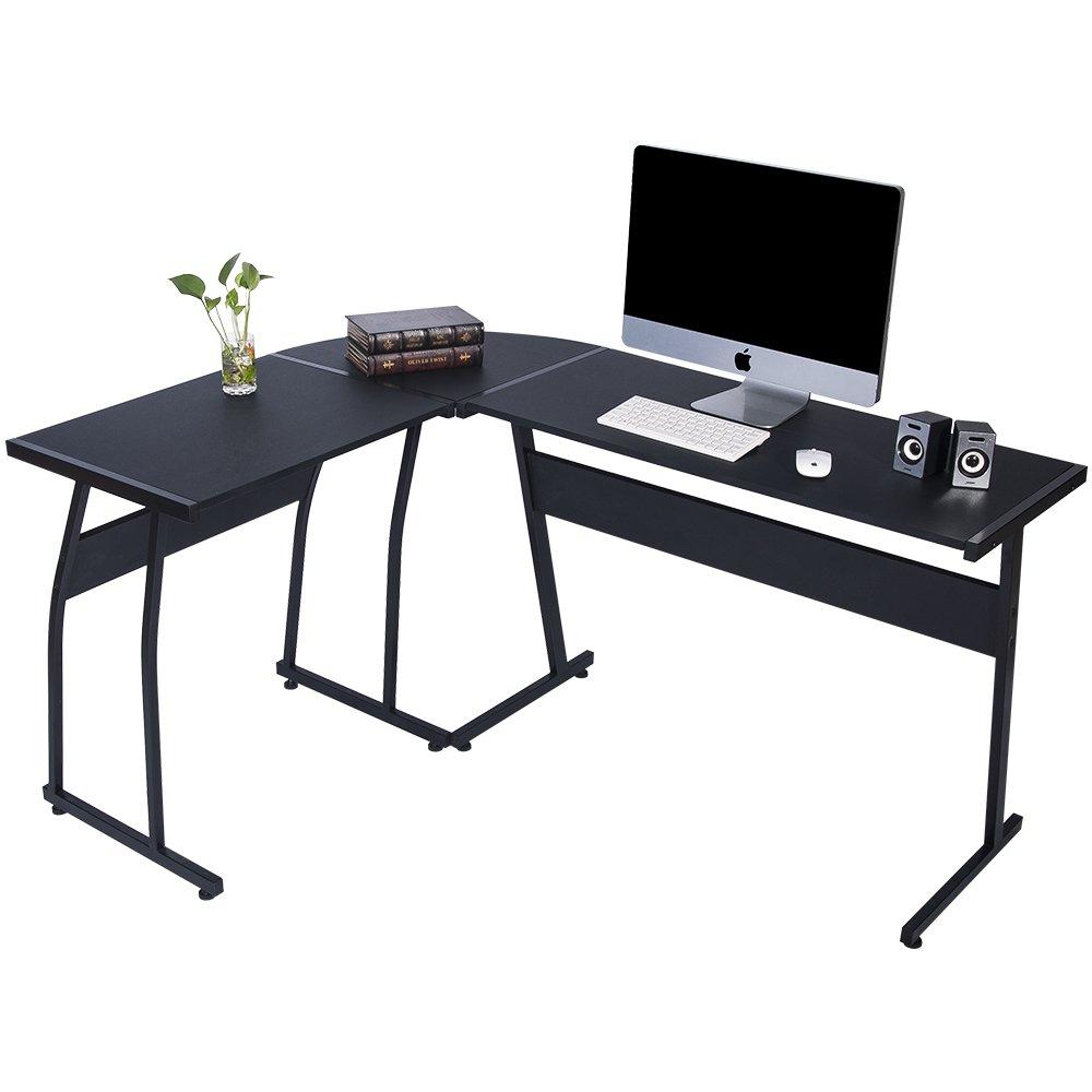 LIFE CARVER L Shaped Computer Desk Large Corner PC laptop study table Simple Style Computer Desk Life Carver®