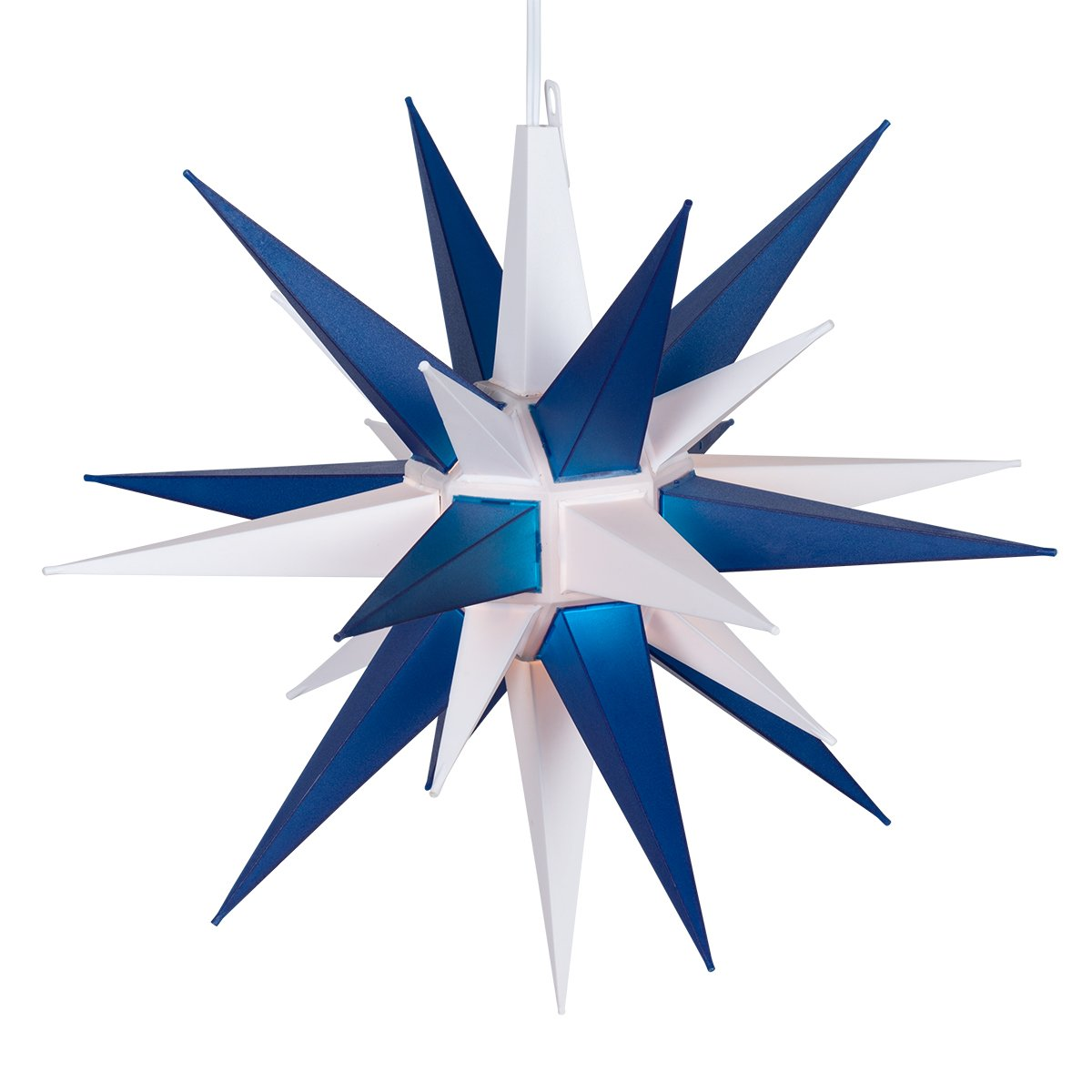 Kringle Traditions 14'' LED Moravian Lighted Star (Blue and White)