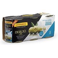 DELUXE SUAVES de LA ESPAÑOLA (3x50g). Aceitunas verdes
