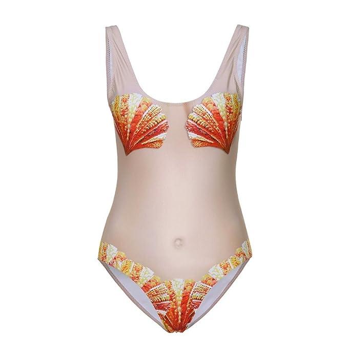 ... sexy Mujer Verano 2018 Ropa de Playa Bañador espalda nadador Camisolas y pareos Impreso floral Ropa de Baño Ropa interior erótica Mujer: Amazon.es: Ropa ...