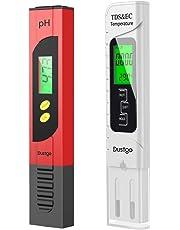 Dustgo 4-en-1 Testeur pH Mètre électronique&TDS Mètre Testeur de qualité de l'Eau TDS pH EC Température, Testeur numérique avec Écran LCD Test pour Piscine, Aquarium