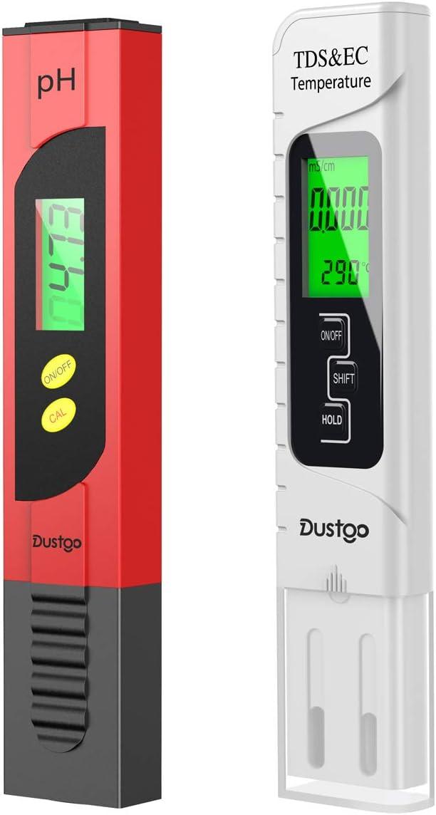 53 opinioni per Dustgo Tester PH/TDS&EC 4 in 1 Set Misuratore Digitale della qualità dell'Acqua