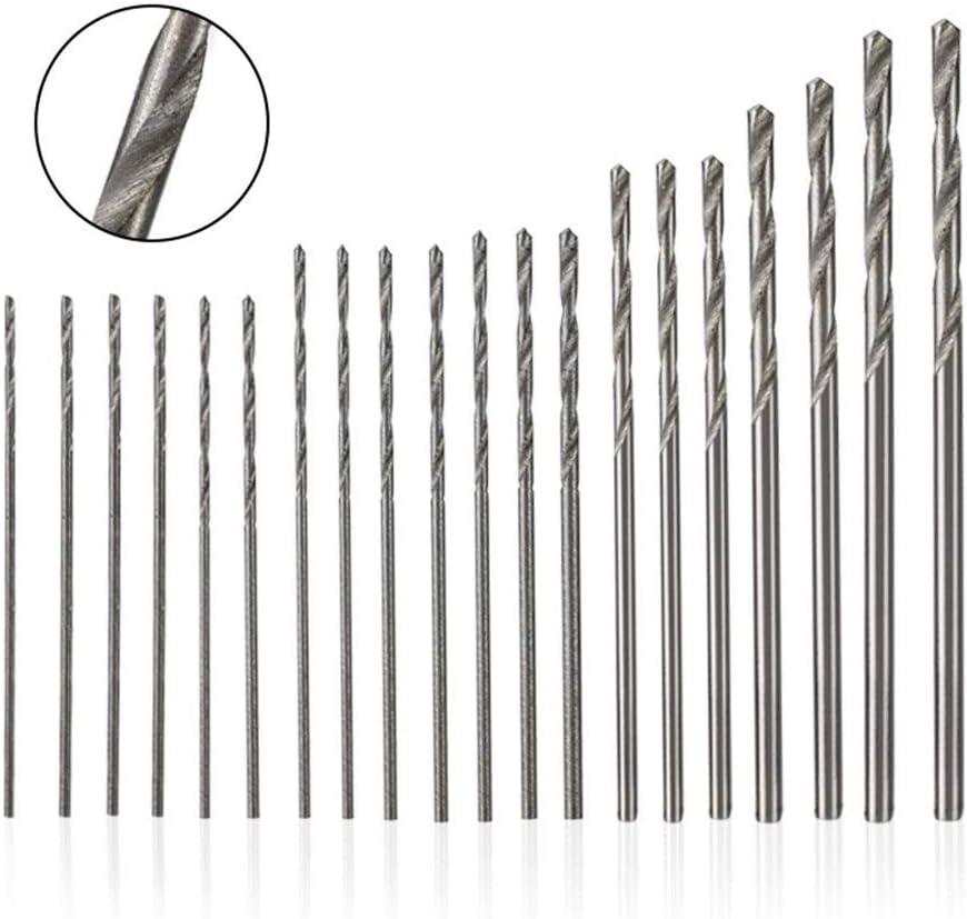 SHENYUAN 20pcs 0.3-1.6mm Twist Drill Bit Set High Speed Steel DIY Mini Drill Bit