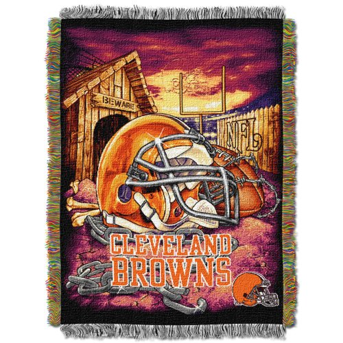The Northwest Company Officially Licensed NFL Cleveland Browns Home Field Advantage Woven Tapestry Throw Blanket, 48