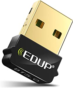 USB Blue-Tooth 5.0 Adapter Dongle for PC, Mini BT5.0 EDR Dongle for Computer Desktop PC Laptop Stereo Music, Skype Calls, Keyboard, Mouse, Support Windows 10 8.1 8 7