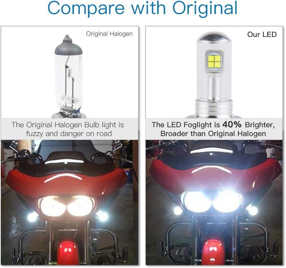 For Yamaha YFZ 450 450R 450X Xenon White H6M COB LED Headlight Bulbs