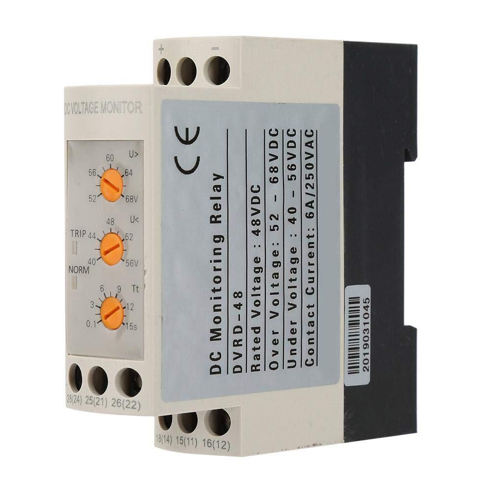 24 V 48 V /Überspannungs 36 V und Unterspannungsschutzrelais 35 MM F/ührungsschiene 13-17 V 10-14 V Spannungs/überwachungsrelais,DC 12 V DC12V
