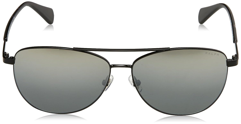 Unbekannt RALPH Damen Sonnenbrille 0RA4122 323488, Black/Greymirror, 59