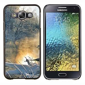 TECHCASE---Cubierta de la caja de protección para la piel dura ** Samsung Galaxy E5 E500 ** --Naturaleza Lago Hermoso