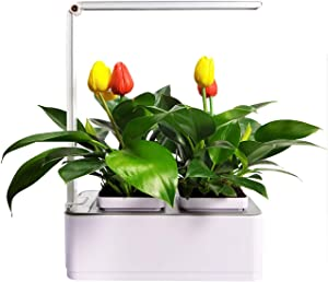 Intelligent LED hydroponic Plant pots Indoor, Indoor Garden Starter Kit with LED Plant Grow Light,Indoor herb Garden, Kitchen Garden, Can Adjust The Light as a Desk lamp.