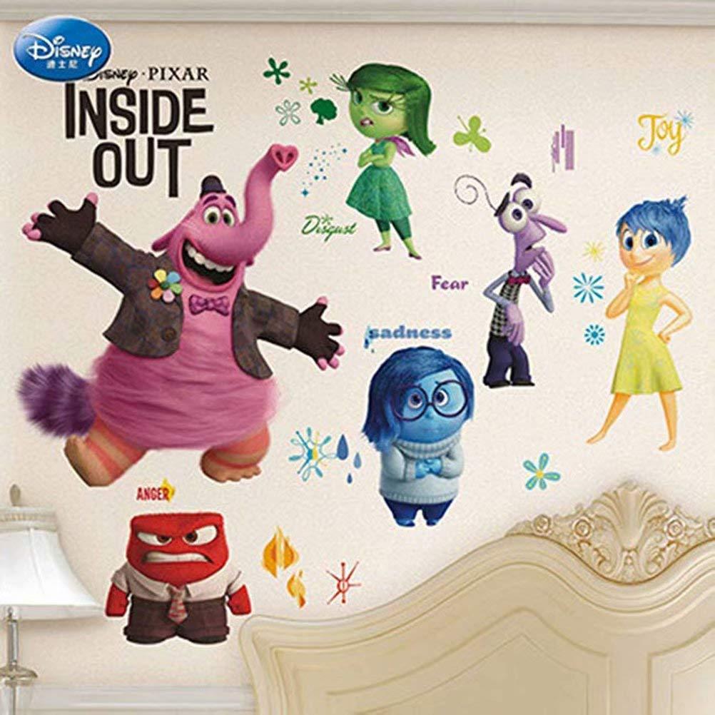 Cute 3D Cartoon Wall Stickers [Inside Out Burst] Removable Wall Art Decal Sticker Kids Room Baby Nursery Creative Wall Decals 40x60cm/15x23 Honeymoon Shop