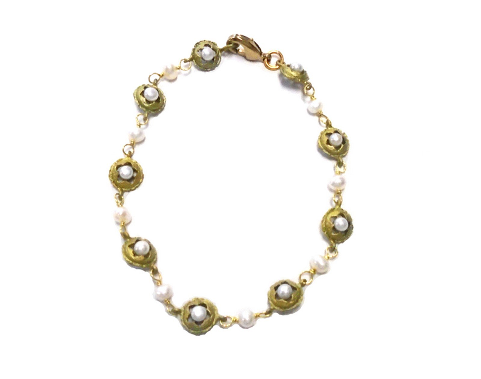 ''Eucalyptus & Pearls'' Pod Bracelet By Michael Michaud for Silver Seasons- Ours Exclusively