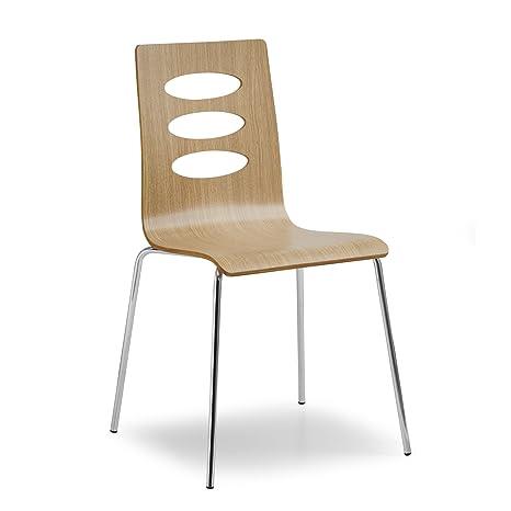 Air Juego 2 Sillas Muebles Hierro cromado con asiento ...