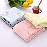 Funnylive Soft Baby Cradle Mattress Pads Breathable Baby Waterproof Urine Pad Dry Towels After Bathing Also for Baby Blanket,7090 CM - 1 Piece