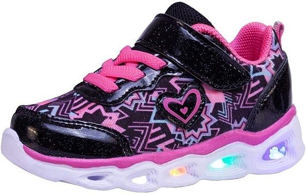 Mucinzoe Kids Led Shoes Girls Fashion Light Sneaker