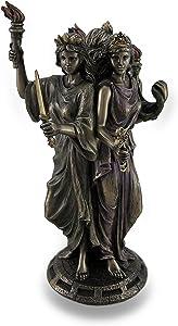 Bronze Finish Triple Form Hecate Greek Goddess of Magic Statue