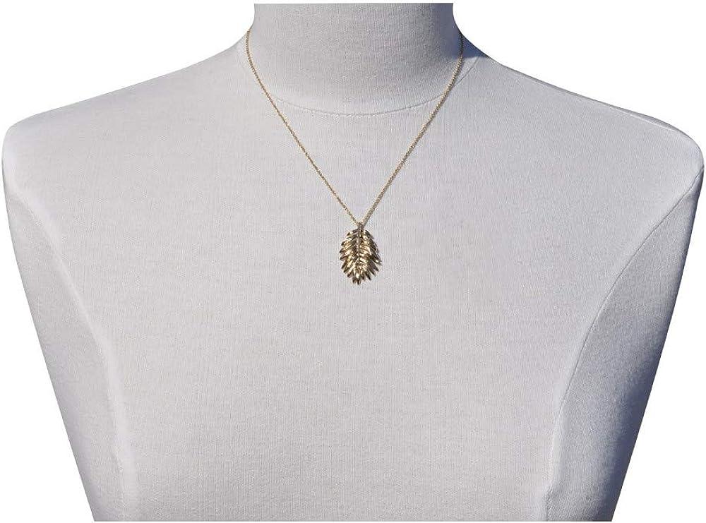 Les Poulettes Jewels Gold Plated Pendant Palm Tree Leaf