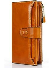 6685a85b3e Portafoglio Donna, Portafoglio In Pelle con Protezione RFID, Porta Carte di  Credito con Portamonete