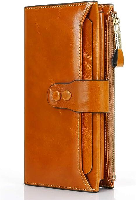 1 Originale Portafoglio Porta-Carte di Credito in pelle 19 Slot per Schede di