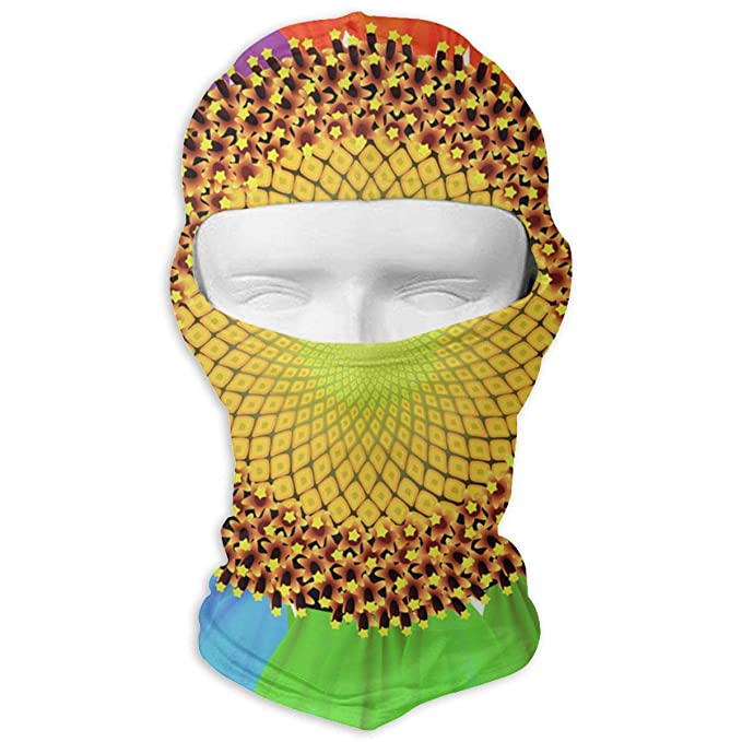 094c9547d2c1f Rainbow Colored Sunflower Outdoor Cycling Mask Sunscreen Balaclava Hat  Dustproof Anti Snow Haze Windproof Mask at Amazon Men s Clothing store