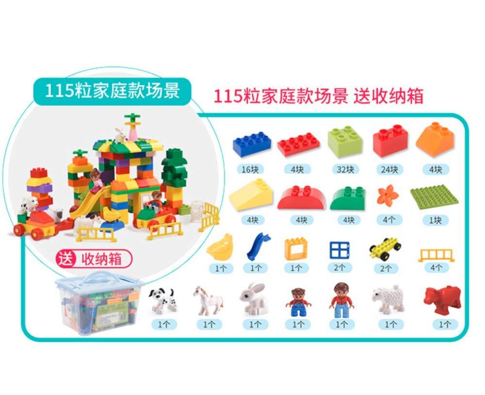 WANGQW Bloques De Construcción Compatibles Plásticos De Partícula Grandes De Los Niños Ensamblaron Juguetes del Bebé De 1-3-6 Años