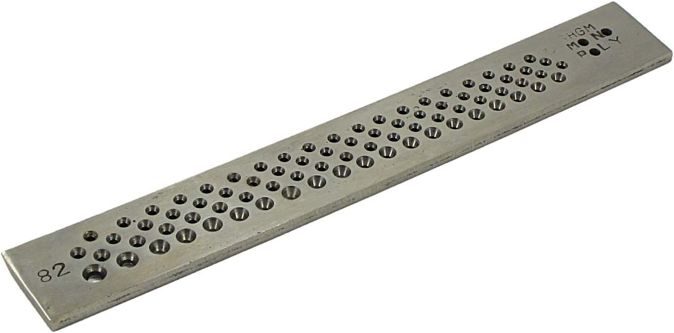 1.5 to 14.5mm Holes Beadsmith Wire Chain 2-Piece Drawplate Set