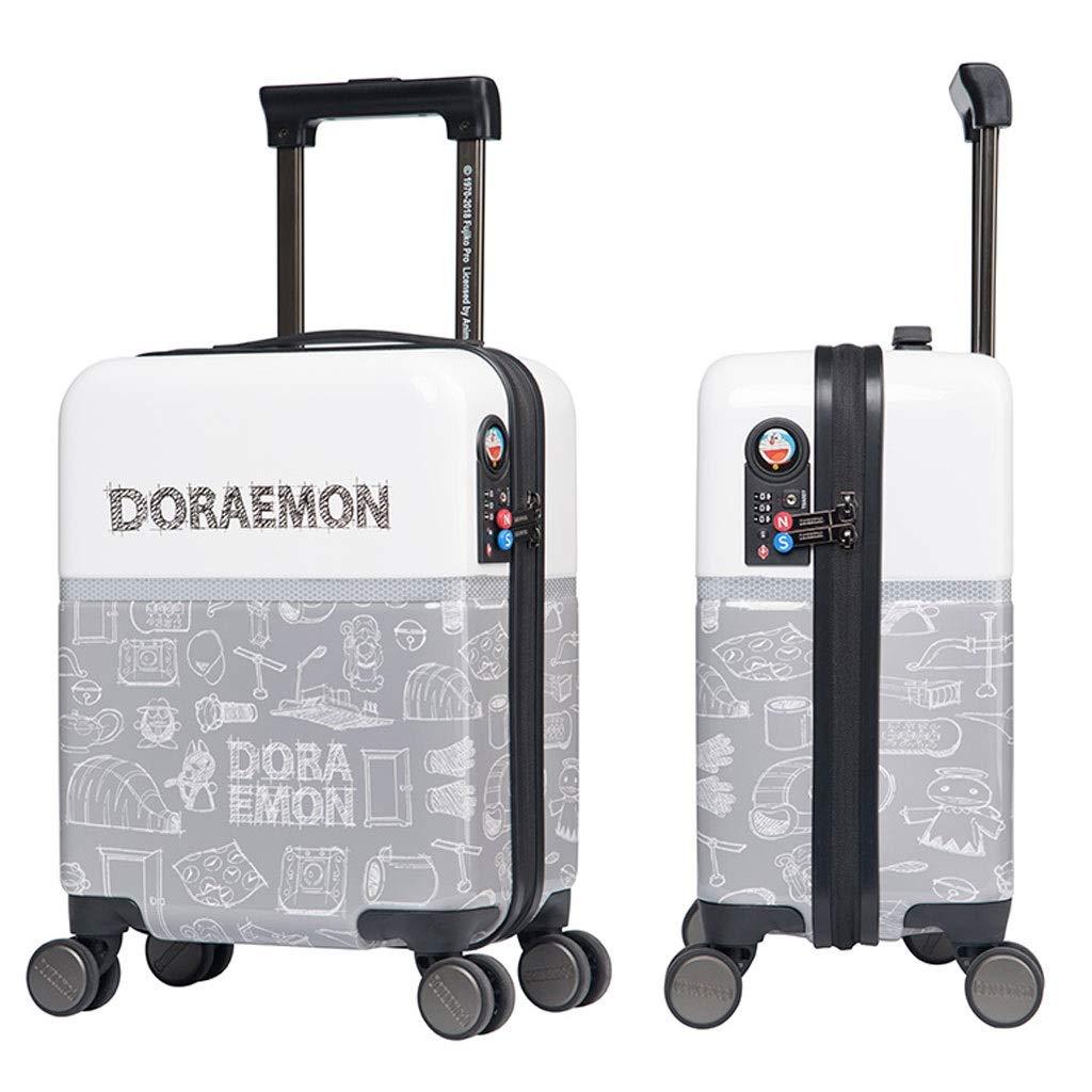 FRF トロリーケース- 子供の漫画のトロリースーツケース、学生の小さい携帯用スーツケースのパスワードボックス18インチ (色 : グレイ ぐれい, サイズ さいず : 18in) B07QX39ZYB グレイ ぐれい 18in
