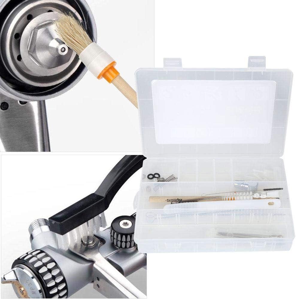 Kit de limpieza de pistola pulverizadora de pintura con aire Cepillo de limpieza con aer/ógrafo Herramienta