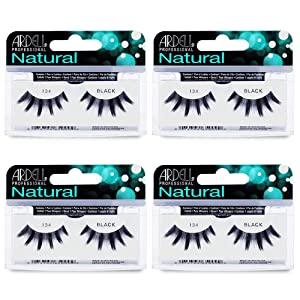 Ardell Natural Lashes False Eyelashes 134 Black (4 pack)