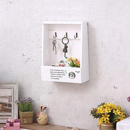TZZ Estante Moderno y Estante para Llaves - Caja de Llaves Vintage Colgante de Pared Colgante de Pared Creativo Ornamento de Madera Regalo Caja de Almacenamiento Colgador de Pared para el hogar: