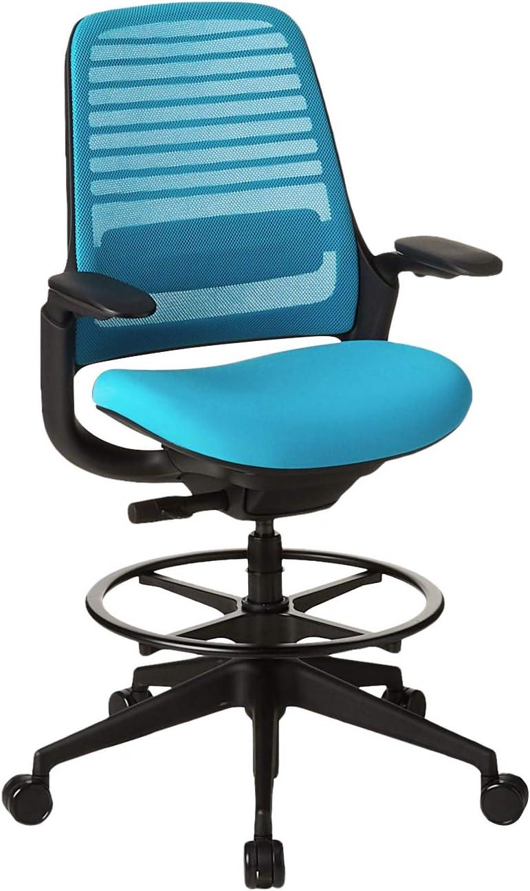 Steelcase Series 1 Office stool, Blue Jay