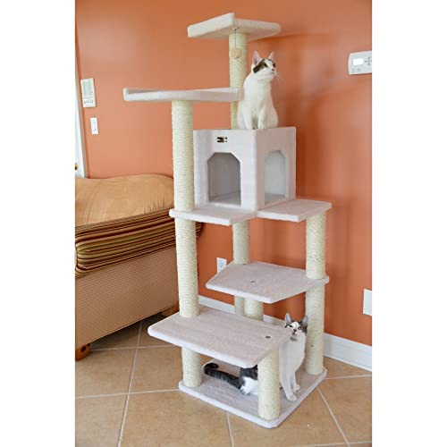 60-Inch Armarkat Cat tree Furniture Condo