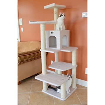 Superb Armarkat B6802 68 Inch Cat Tree, Ivory